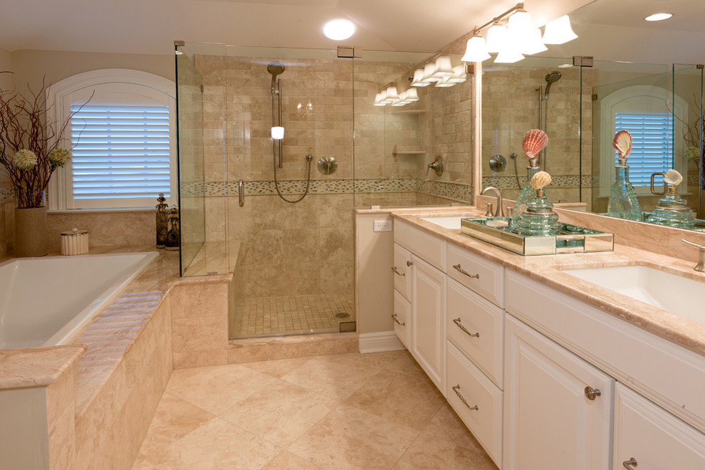 mother of pearl tile bathroom mirrored liner wall - st068