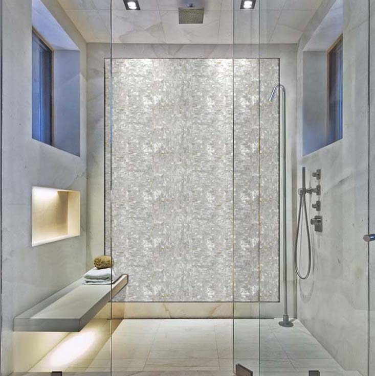 mother of pearl tile for shower wall sticker - st077