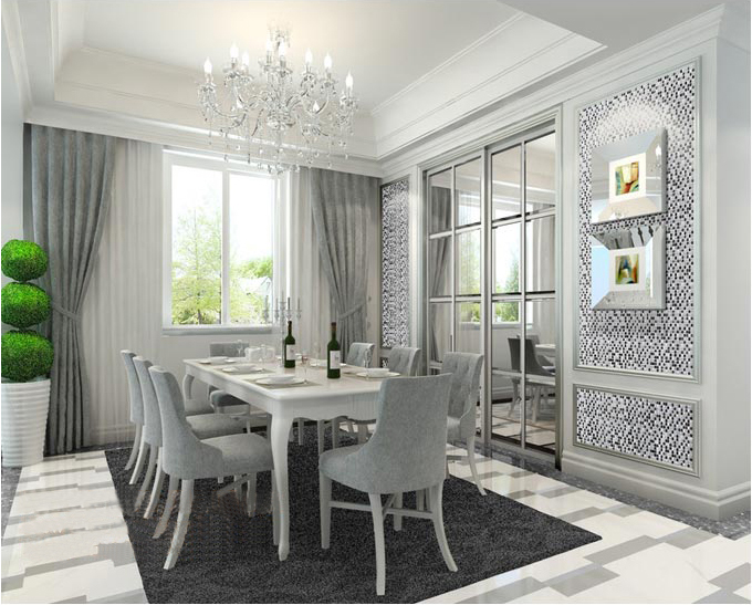 metallic mosaic tile for dining room wall stickers decoration - ks33