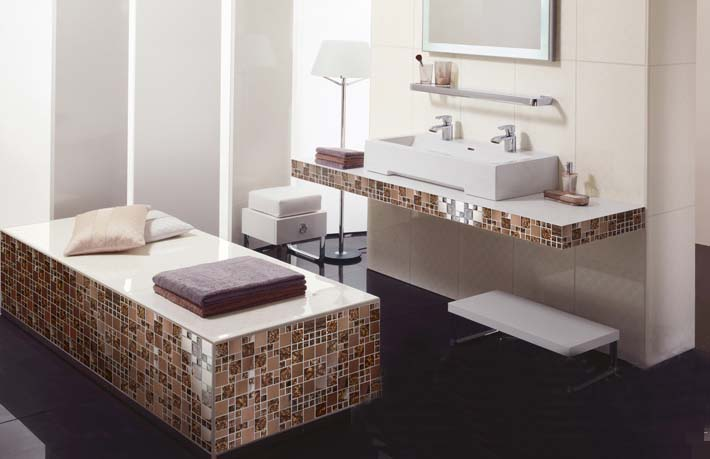 metallic mosaic tile for bathroom backsplash wall tile - 1941