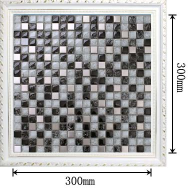 dimensions of the stainless steel metal crack glass blend mosaic tile - ks33
