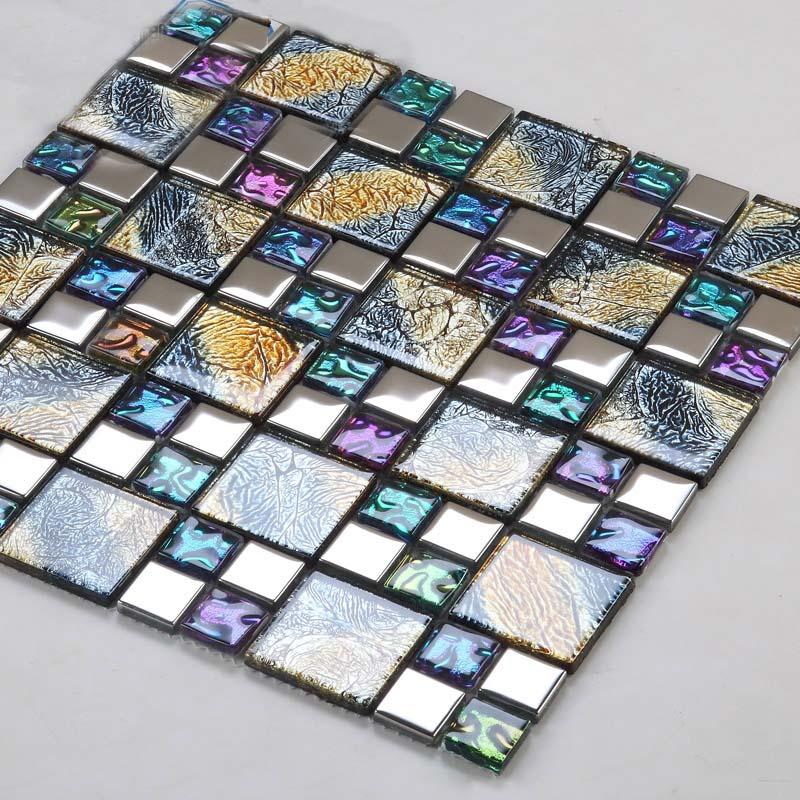 crystal glass tile diamond vitreous mosaic wall tiles -D1391