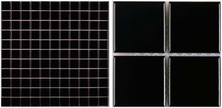 front side of glazed porcelain pool tile - hb-009