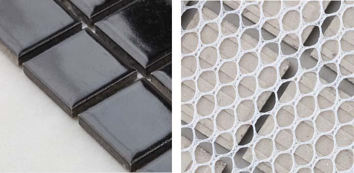 back of the porcelain mosaic tile - hb-009