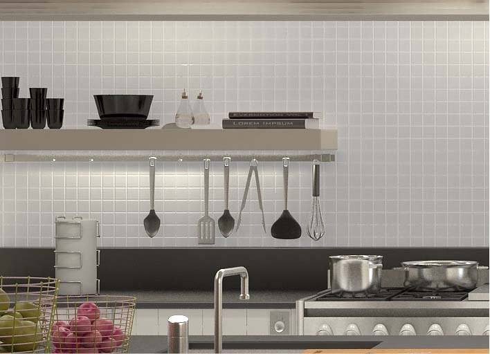 glazed porcelain tiles kitchen backsplash - hb-656