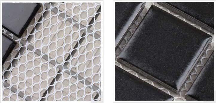 mesh mounted, smooth glaze - hb-009