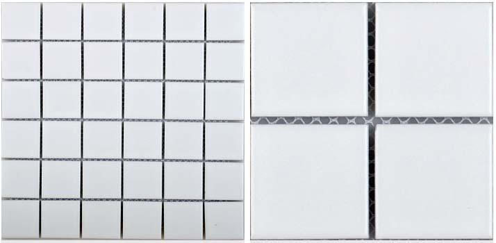 front side of glazed porcelain pool tile - hb-656