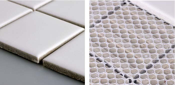 back of the porcelain mosaic tile - hb-656