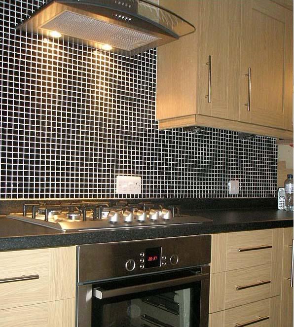 Phenomenal Porcelain Tile Mosaic Black Square Surface Art Tiles Kitchen Backsplash Bathroom Shower Wall Sticker Download Free Architecture Designs Jebrpmadebymaigaardcom