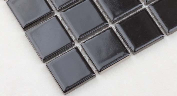 glazed porcelain mosaic floor tile details - hb-009