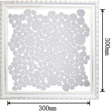 dimensions of porcelain mosaic pebble tile - aty1103
