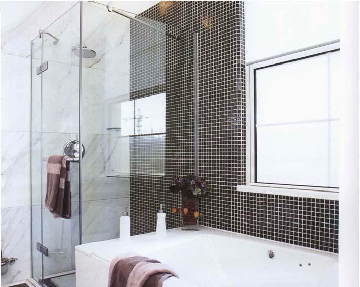 porcelain tile bathroom shower wall sticker - hb-009