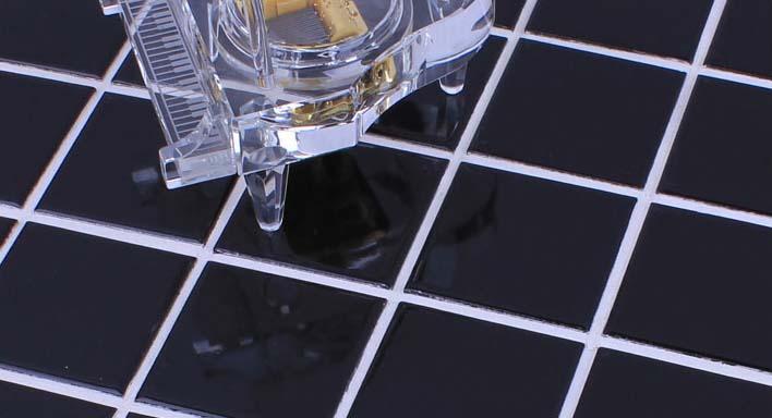 glazed porcelain mosaic floor tile details - hb-660