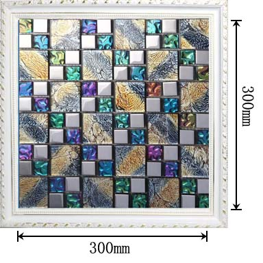 dimensions of the glass mosaic tile backsplash wall sticers -D1391