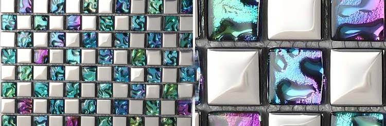 crystal glass tile vitreous mosaic wall plated tiles - d151