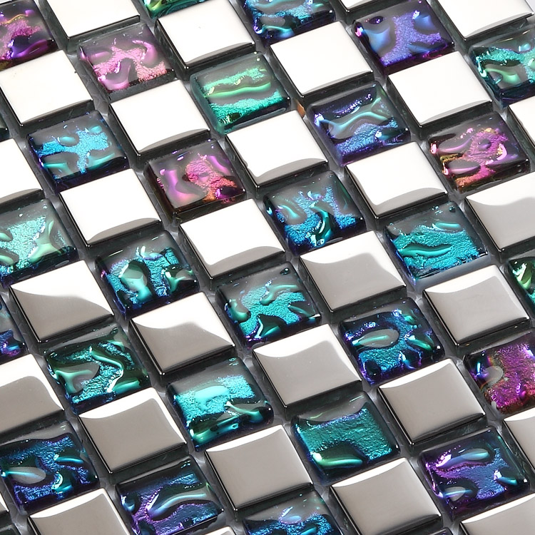 crystal glass tile vitreous mosaic wall tiles - d151