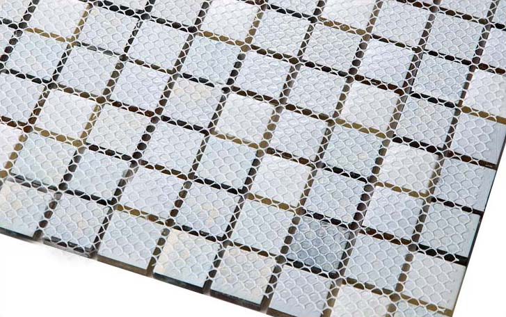 back of glass mosaic tile design mesh mounted - d151