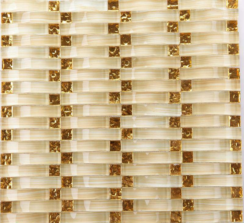 front of crystal glass tile ice crack mosaic wall tiles - yf-88