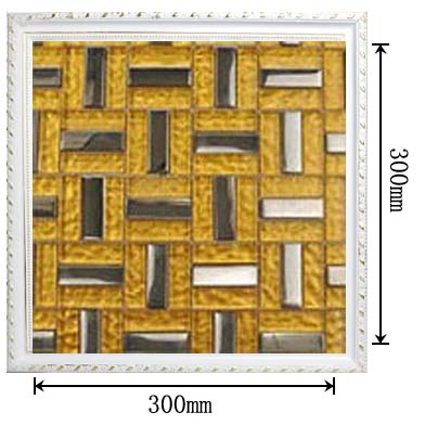 dimensions of the stainless steel metal glass mosaic tile - sdy011
