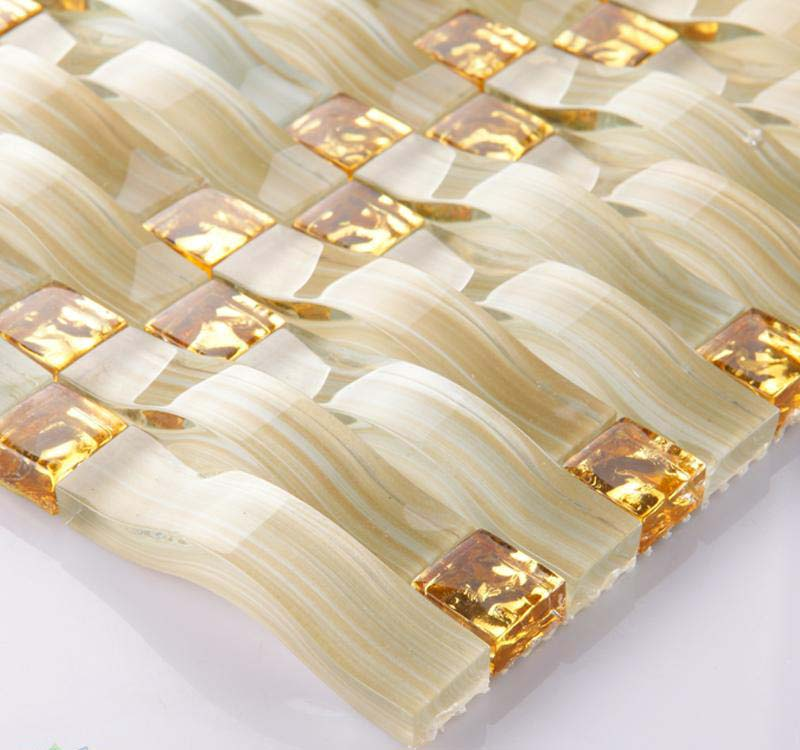 crystal glass tile vitreous mosaic hand painted arches wall tiles - yf-88