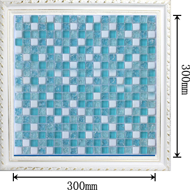 dimensions of crackle mosaic glass tile - stbl001