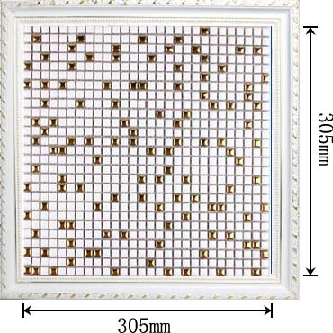 dimensions of glazed porcelain plated mirror mosaic tile - hb-m178