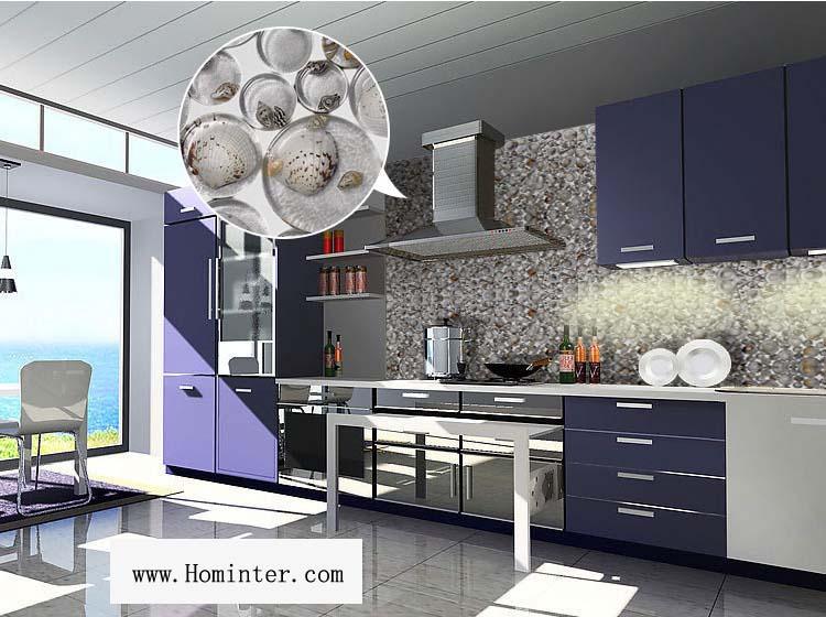 pebble glass mosaic tile crystal backsplash kitchen wall stickers - 619