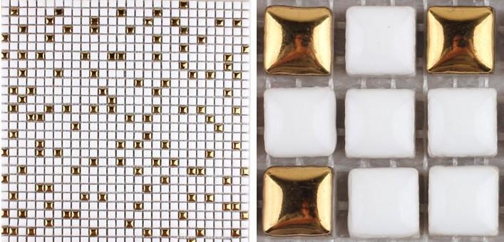 front side of glazed porcelain plated washroom tile - hb-m178