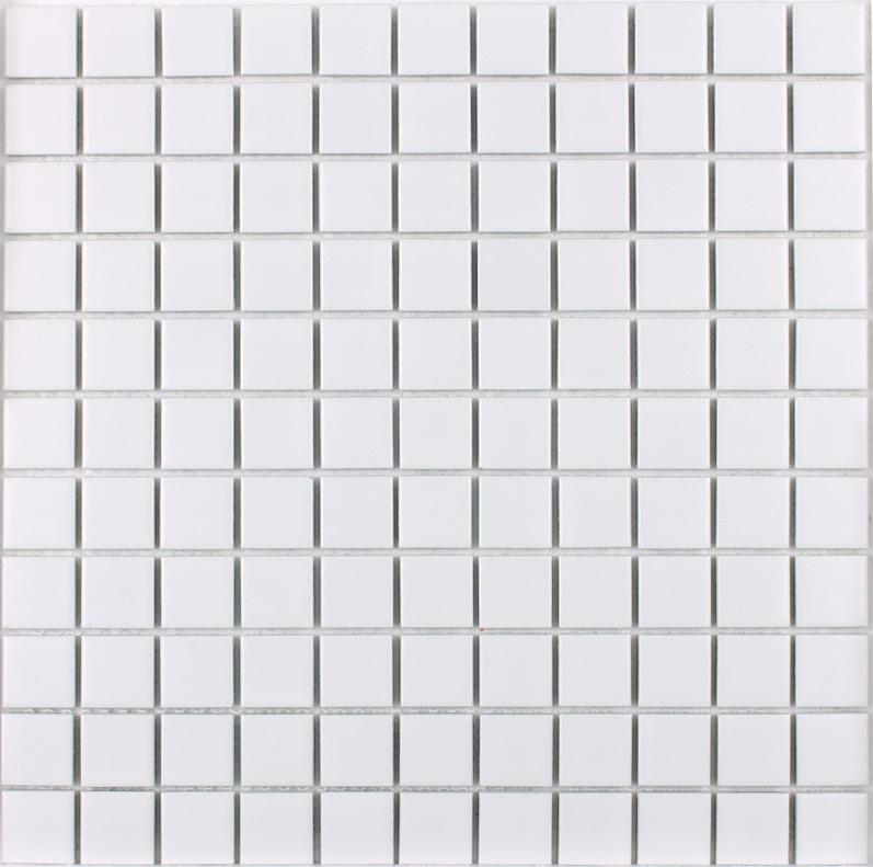 front side of glazed white porcelain pool tile - hb-002