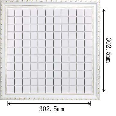 dimensions of glazed white porcelain mosaic tile - hb-002