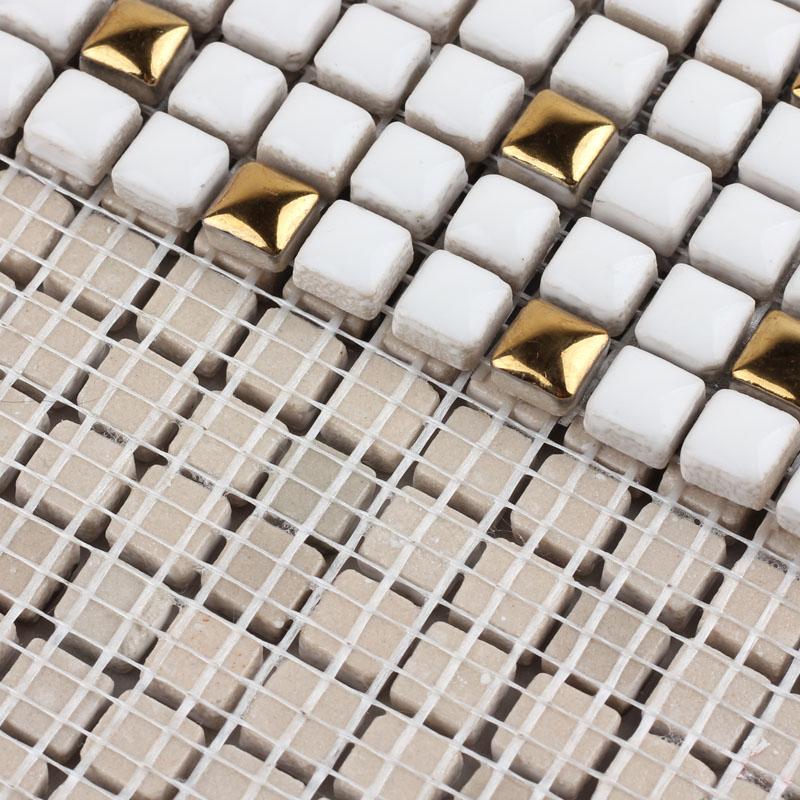 back of the porcelain mosaic mirror tile - hb-m178