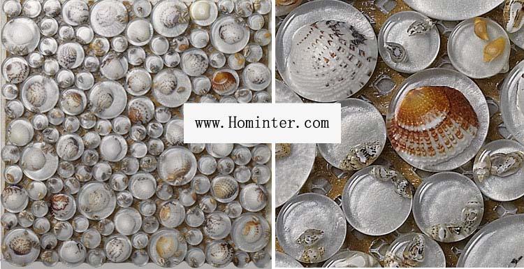 crystal pebble glass tile vitreou mosaic shell wall tiles - 619