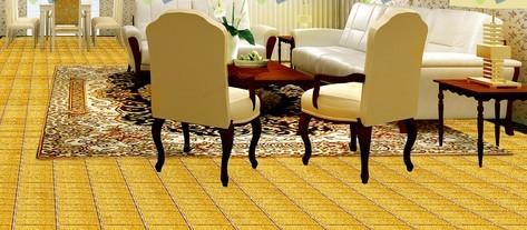 gold plated porcelain mosaic meeting room backsplash wall floor tiles - yf-mca34