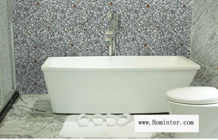 glass pebble mosaic tile crystal bathroom shell wall tiles - 619