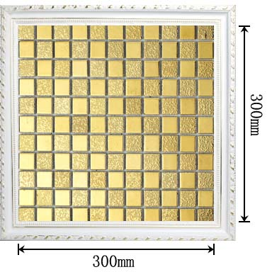 dimensions of porcelain mosaic plated tile - t173