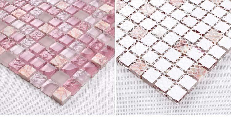 crystal backsplash bathroom wall tile mesh mounted - k1638