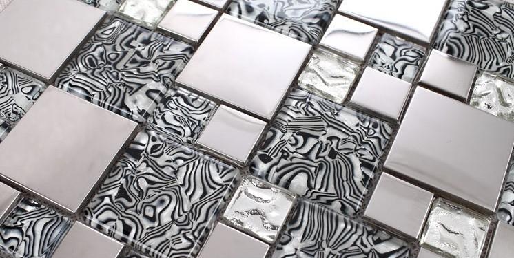 wholesale metallic backsplash tiles silver 304 stainless ste