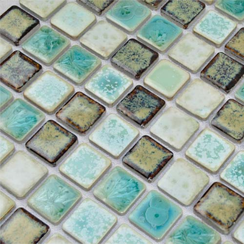 porcelain white mosaic floor tile backsplash - tc-2508tm