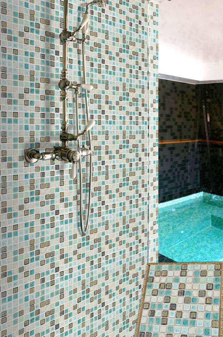 porcelain mosaic shower wall and floor tile - tc-2507tm