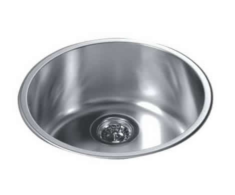 Best Rated Stainless Steel Sinks : Wholesale Round Kitchen Sink Top Mount Single Bowl 304 Stainless Steel ...