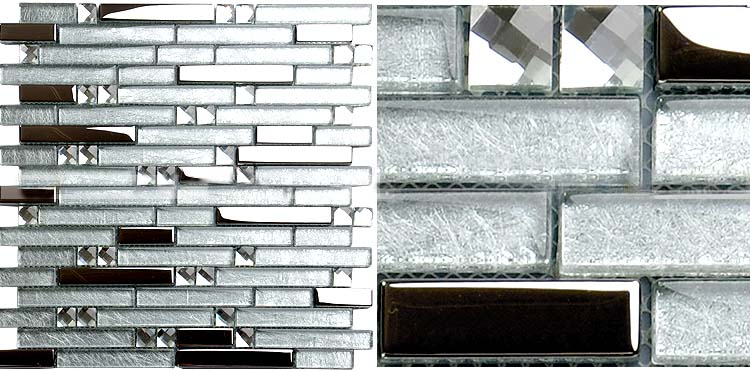 Wholesale Crystal Glass Plated Mosaic Tiles Washroom Backsplash Bathro