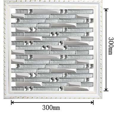 dimensions of the glass mosaic plated tile backsplash diamond wall stickers yg001