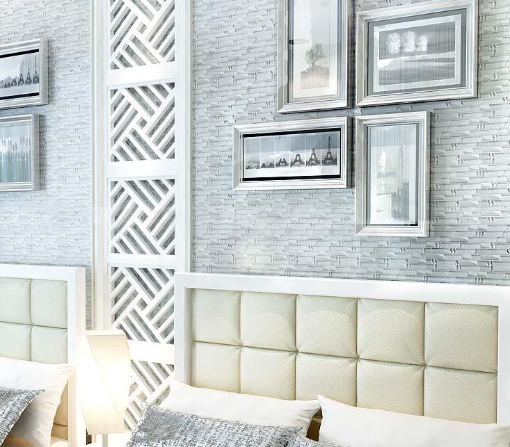 glass mosaic tile plated crystal backsplash bedrom wall diamond tiles - yg001