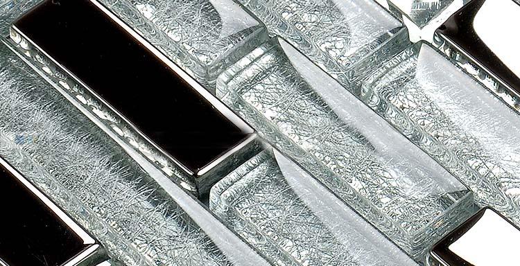 crystal glass tile vitreous mosai wall tiles stickers - yg001