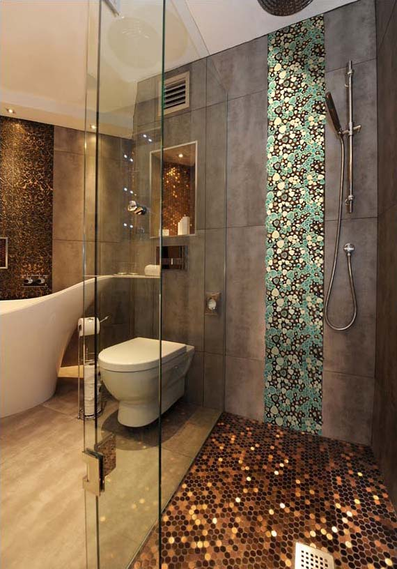 porcelain pebble tile for shower wall sticker - ppt003