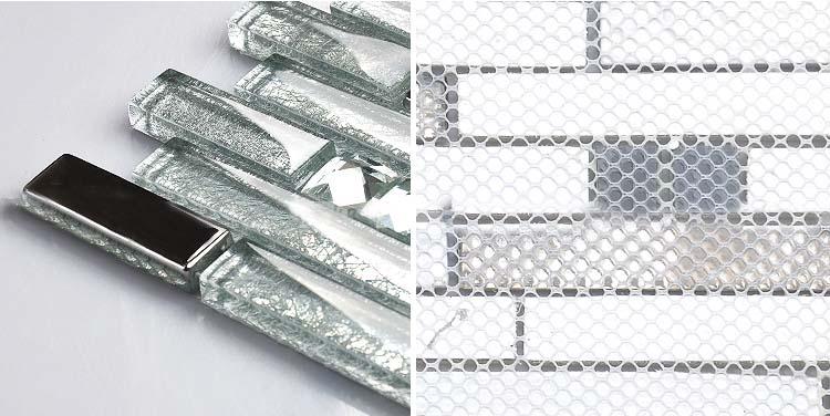 back of the crystal glass tile plated design-wall-backsplash-mesh mounted tiles - blh016