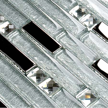 Crystal Gl Plated Mosaic Tiles