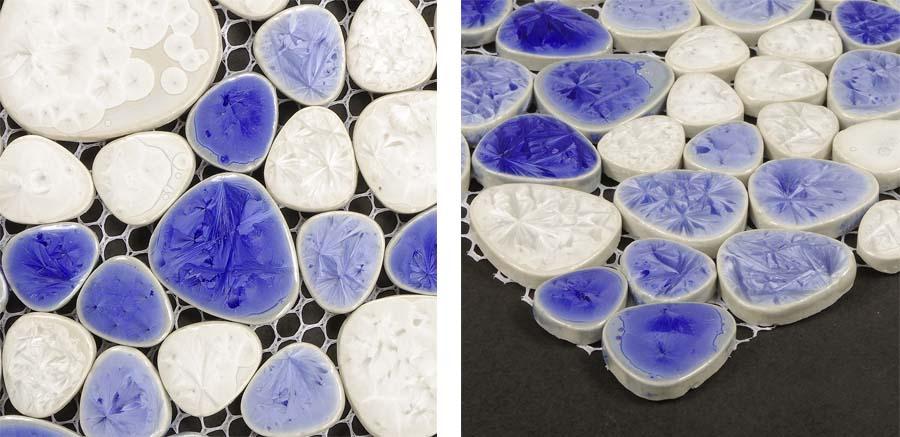 porcelain pebble tile fireplace wall sticker details - ppt007