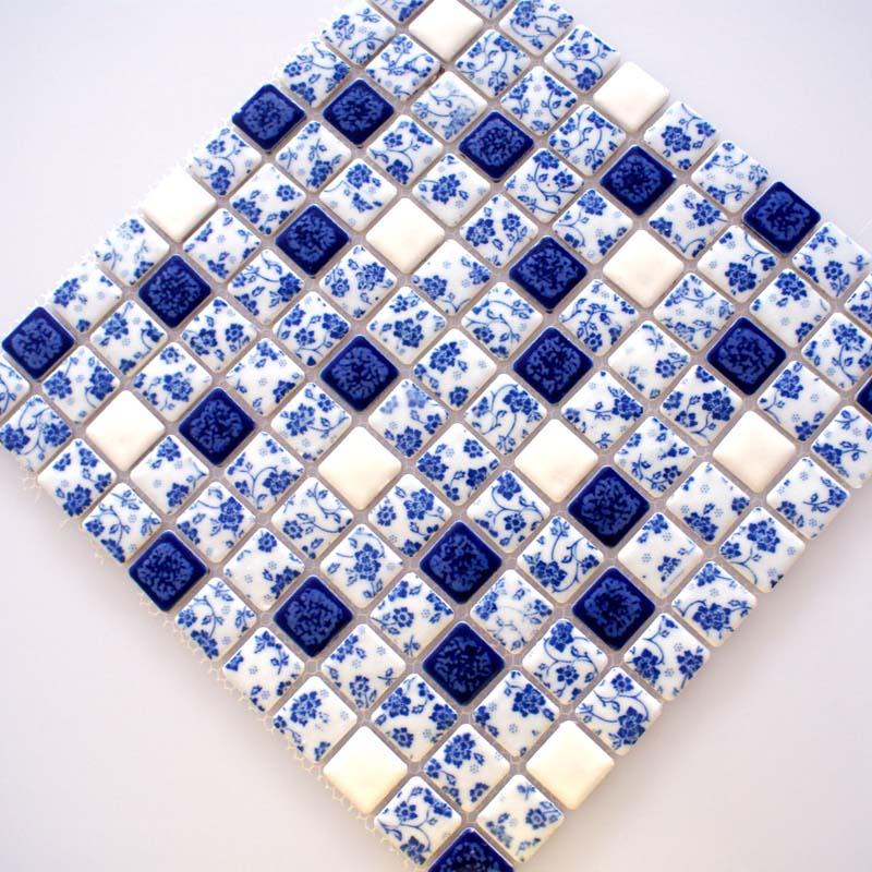 Porcelain Tile Shower Mosaic Floor Tiling Pattern | Hominter.com