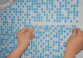 mosaic tiles installation guide step 3
